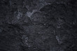 Dark grey black slate background or natural stone texture