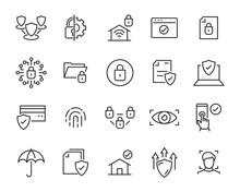 Set Of Security Icons, Such As...