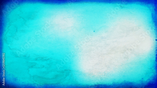 Fototapety, obrazy: Blue and White Watercolor Texture Background