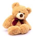Brown Teddy Bear Isolated On W...