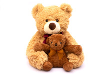 Two Small And Big Brown Teddy ...