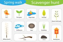 Scavenger Hunt, Spring Walk, D...