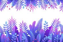 Vector Digital Lilac Frame Cre...
