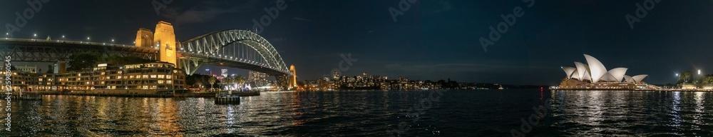 Fototapety, obrazy: Vue de la ville de Sydney de nuit