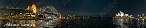 Photo Vue de la ville de Sydney de nuit