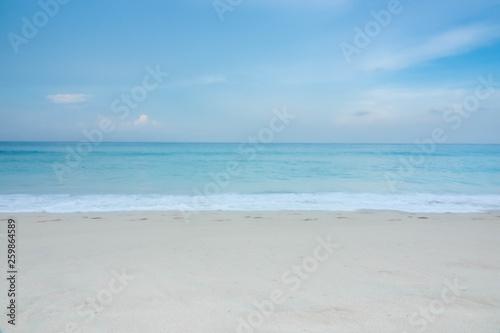 Poster Zee / Oceaan blue wave on beach of Phuket Thailand