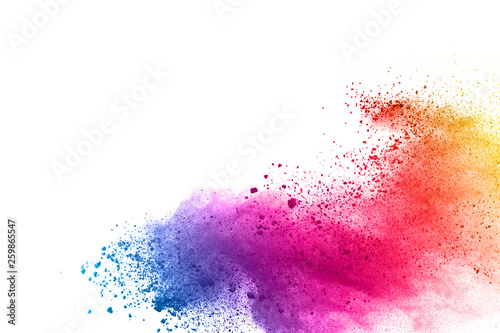 Fotografie, Tablou abstract powder splatted background