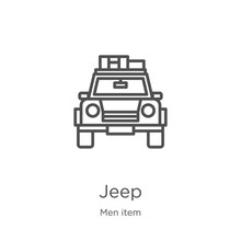 Jeep Icon Vector From Men Item...