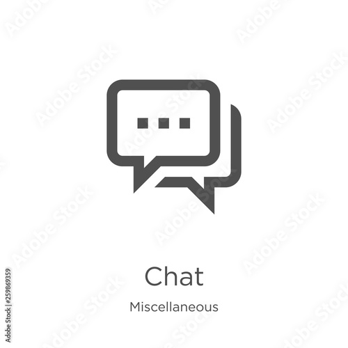 Carta da parati chat icon vector from miscellaneous collection