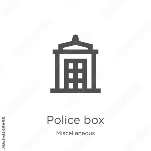 Fototapeta police box icon vector from miscellaneous collection