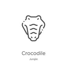 Crocodile Icon Vector From Jun...