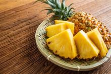 Fresh And Delicious Pineapple Fruit Slice Platter