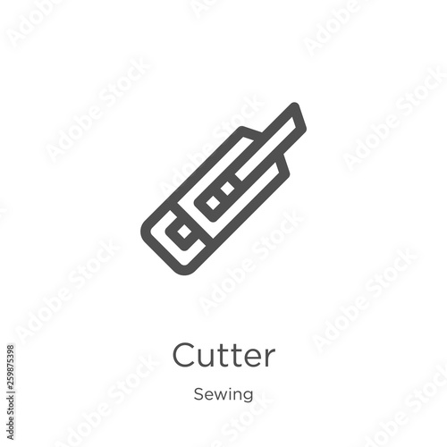 Fotografie, Obraz  cutter icon vector from sewing collection