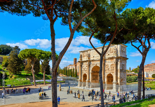 Triumphal Arch in ancient Rome Italy Canvas Print