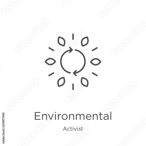 Foto  environmental icon vector from activist collection