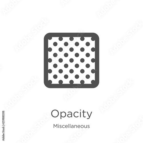 Vászonkép opacity icon vector from miscellaneous collection