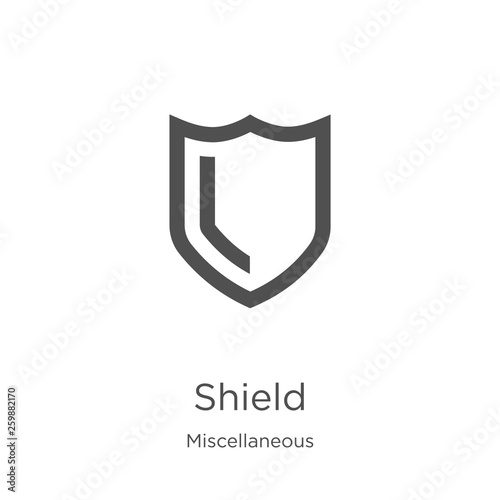 Fotografie, Obraz shield icon vector from miscellaneous collection