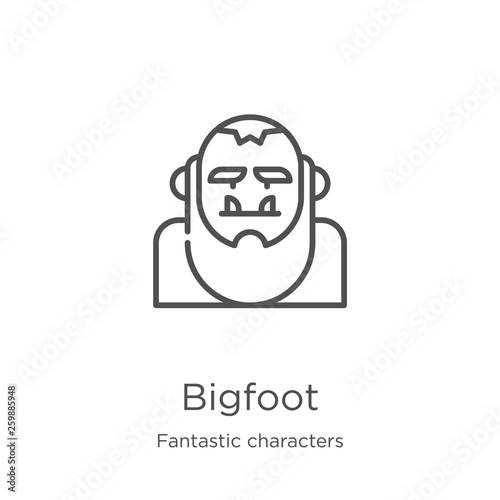 Fotografie, Obraz  bigfoot icon vector from fantastic characters collection