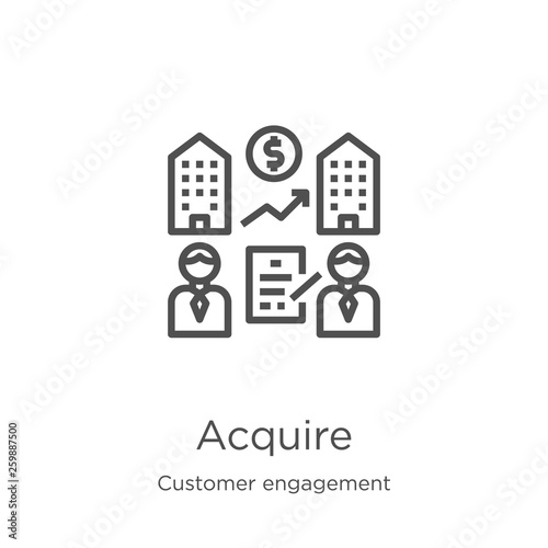 Fotografía  acquire icon vector from customer engagement collection
