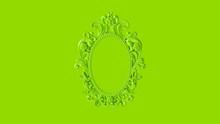 Green Antique Ellipse Baroque ...