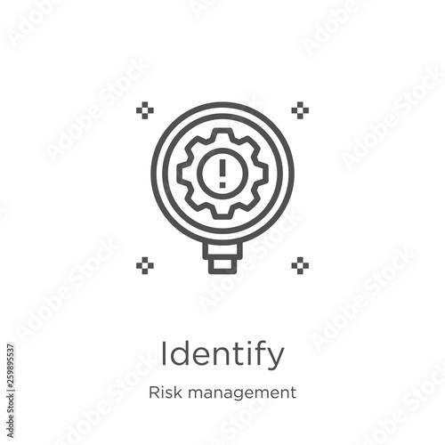 Fotografía identify icon vector from risk management collection
