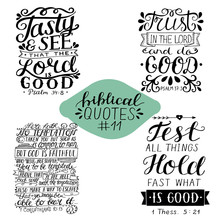 Collection 11 With Bible Verse Tasty And See. Trust In The Lord And Do Good. Test All Things. Temtation.
