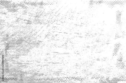 Fotografie, Obraz  Halftone monochrome grunge horizontal lines texture.