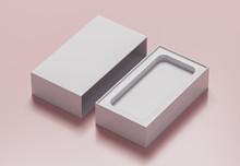 Empty White Phone Box  - 3D Il...