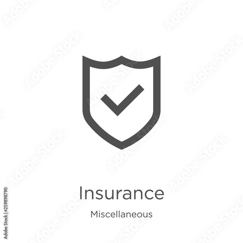 Stampa su Tela insurance icon vector from miscellaneous collection