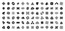 Abstract Logos Collection. Geometrical Abstract Logos. Isolated On White Background
