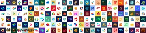 Fotomural  Abstract logos collection. Geometrical abstract logos