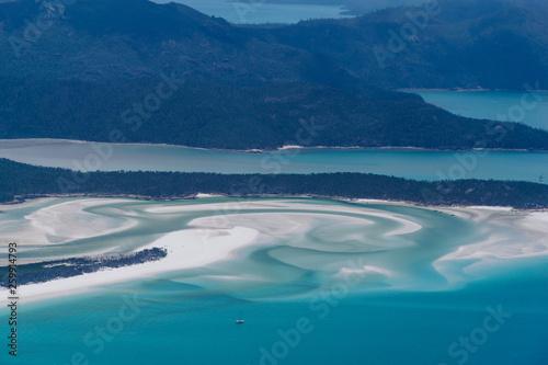 Poster Turquoise Whitsunday Islands und Whitehaven Beach aus der Luft fotografiert