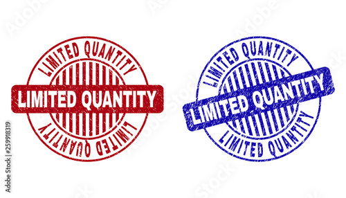 Obraz na plátně Grunge LIMITED QUANTITY round stamp seals isolated on a white background