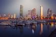 Skyline of Kuwait City at evening