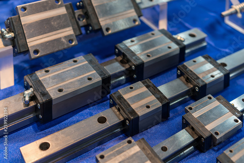 Close up many size of high quality and precision linear ball bearing guide of ma Canvas-taulu