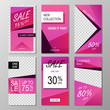 Set of Instagram stories sale banner background, pack for creating your unique content
