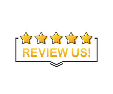 Review Us! User Rating Concept...