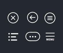Ui Menu Icons. Set Hamburger Menu Icon