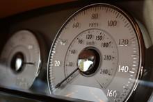Luxury Super Car Bespoke Interior With Speedometer And Gauge Cluster Instrument Panel.