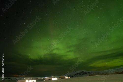 Foto auf Gartenposter Nordlicht Aurora boreal en Islandia
