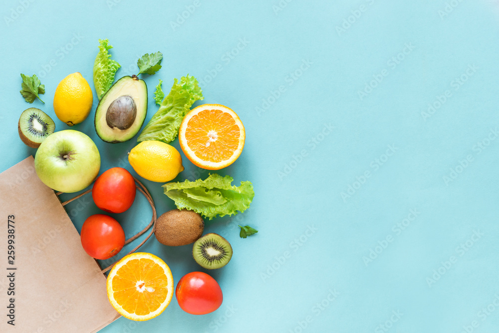 Fototapeta Shopping healthy food