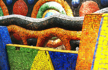 Tsereteli's Mosaic Playground. Oldenburgs Seaside Park In Gagra, Abkhazia. June 28, 2017