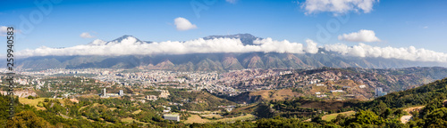Panoramic view of Caracas in a sunny and beautiful day
