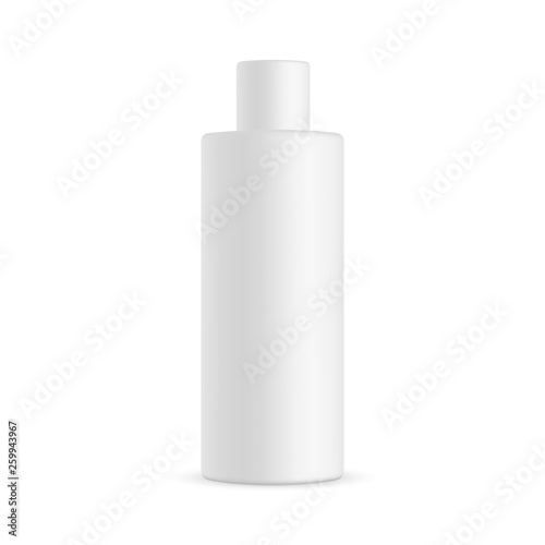 Fotografering Tall cosmetic bottle mockup isolated on white background