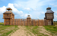 A Fort With Wooden Stockade