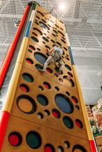 Girl Climbing Walls In Game Ce...