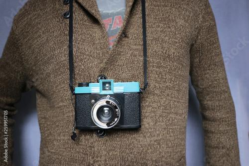 appareil photo argentique de plastique Canvas Print