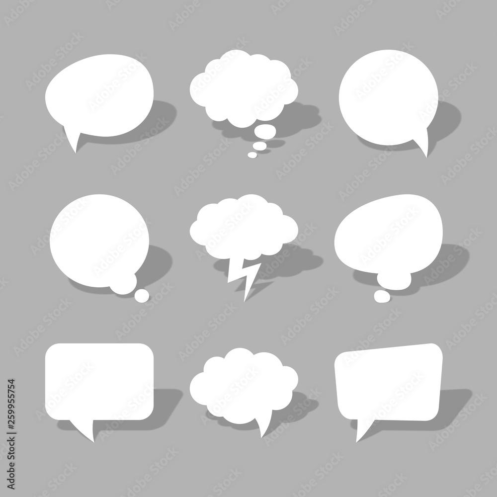 Fototapeta Sprechblasen Cartoon Vektor Grafik
