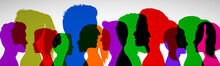 Group Young People. Profile Si...