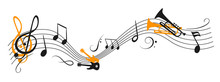 Music Notes Wave, Group Musica...